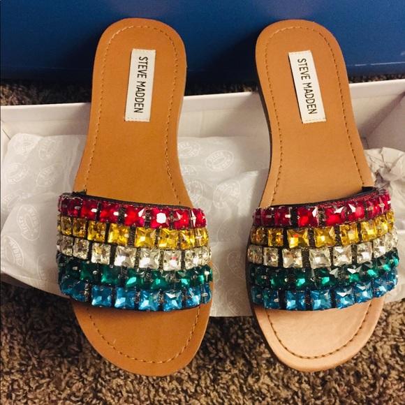 Steve Madden Serenade Rainbow Sandals